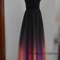 Prom dress, Ombre Prom Dress, Prom Dresses, Strapless Ombre Prom Dress, Plus Size Prom Dress, Ombre Evening Dress, Ombre Bridesmaid Dress
