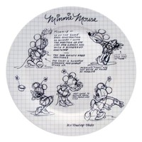 Disney Sketchbook Minnie Dinner Plate, Set of 4
