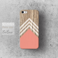 Coral white chevron triangle Geometric on wood, Samsung Galaxy S4 3D-sublimated Unique design iPhone 4/4S case iPhone 5/5S case.