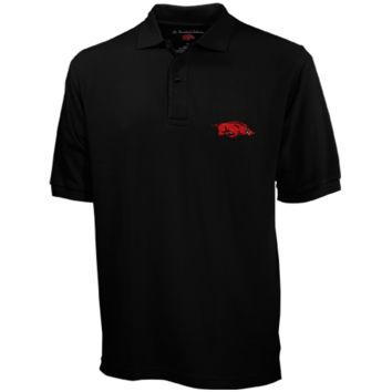 Arkansas Razorbacks The Razorback Collection Jersey Polo - Black