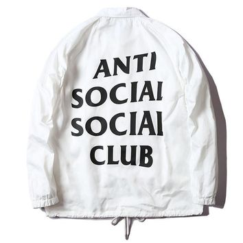 cc kuyou White Anti Social Club Jacket