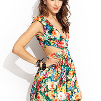 Rose Garden Cut-Out Dress