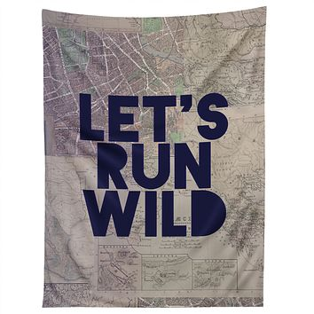Leah Flores Lets Run Wild X Maps Tapestry