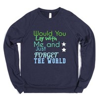 Just Forget the World-Unisex Navy Sweatshirt