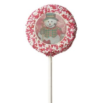 Snowman One Dozen Dipped Oreo Cookie Pops