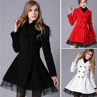 Autumn Winter Women'S Fashion Double-Breasted Woolen Dress Plus Size Women Coat Jacket S-XXL = 1956207108