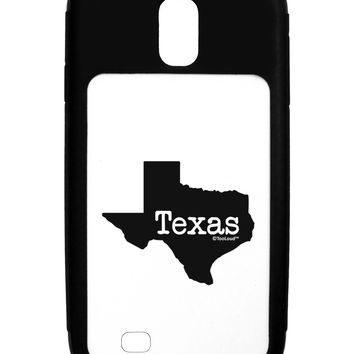 Texas - United States Shape Galaxy S4 Case  by TooLoud