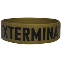 Doctor Who Men's Exterminate Rubber Bracelet Yellow