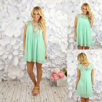 Delicate Balance Dress in Mint