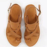 Bamboo Bayside-07 Toe Ring Cross Sandals