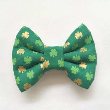SALE - St. Patty's Day / Lucky Charm Shamrock (Bow Hair Clip / Bow Tie / Headband)
