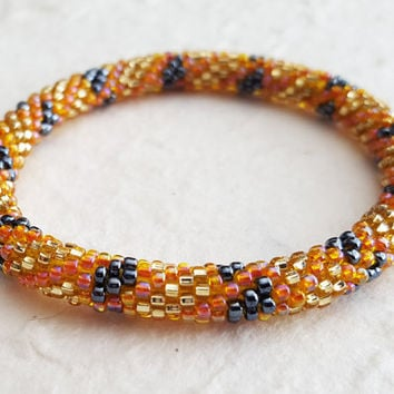 ADIA Bracelets Glass Bead - Glass Beads, Hand crafted Bracelet, Adjustable Size, Handmade USA Christina Guenther