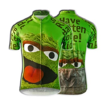 OSCAR THE GROUCH Team Cycling Jersey- BRAND NEW - FREE SHIPPING