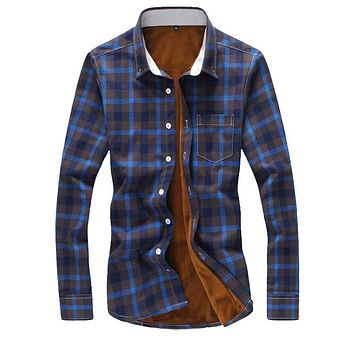 FLANNEL SHIRT Men's plaid regular fit good quality warm shirt