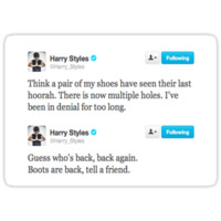 Harry Styles Brown Boots Tweets