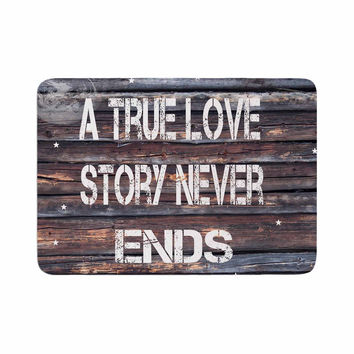 "Suzanne Carter ""True Love"" Contemporary Typography Memory Foam Bath Mat"