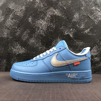 Off-White x Nike Air Force 1 Low ¡°University Blue¡± ¡°MCA Chicago¡±