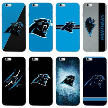 Carolina Panthers slim silicone Soft phone case For Samsung Galaxy S3 S4 S5 S6 S7 edge S8 S9 Plus mini Note 3 4 5 8