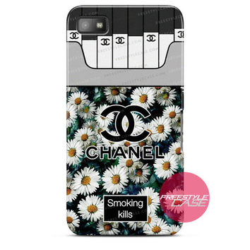 Chanel Coco Flower Smoking Kills Blackberry Case Z10, Q10, Dakota Cover