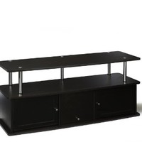 Convenience Concepts Designs2Go TV Stand with 3 Cabinets for Flat Panel TV's Up to 50-Inch or 85-Pounds, Dark Espresso
