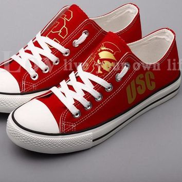 USC Trojans Custom Canvas Shoes