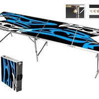 Beer Pong Table Tattoo 8 FEET with Bottle Opener, 6 Pong Balls, and More!