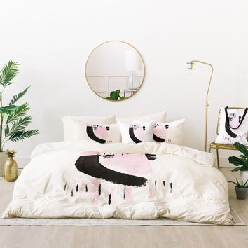 Viviana Gonzalez Minimal black and pink I Bed In A Bag | Deny Designs
