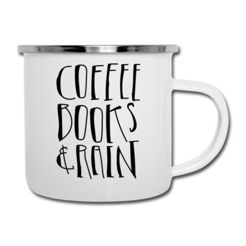 Coffee Books & Rain Camper Mug
