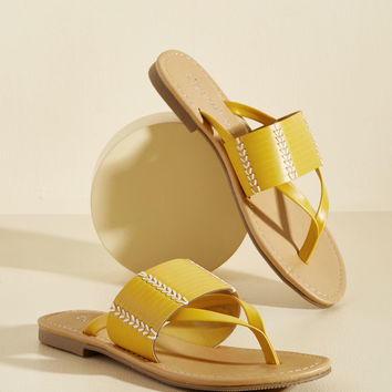 Hilton Head in the Game Sandal in Sunshine | Mod Retro Vintage Sandals | ModCloth.com