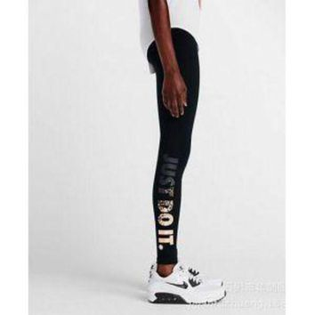 PEAP2Q nike leg a see just do it metal women running tights