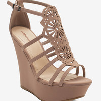 Cure Lacy Lasercut Wedge