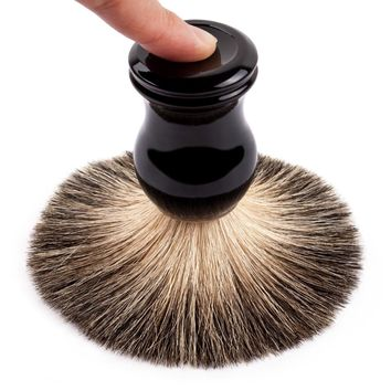 Qshave Man Pure Badger Hair Shaving Brush 100% Original for Double Edge Safety Straight Classic Safety Razor 11.5cm x 5.2cm