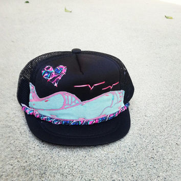 Hand Stitched Surf Trucker Hat Infant by ROUPOLI