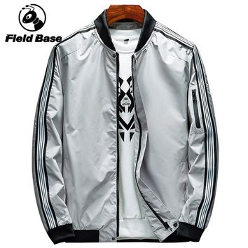 Field Base Brand High Quality Vintage Track Jacket Men Full Zipper Windbreaker Jackets Coat Male Spring Hip Hop Outwear Jackets