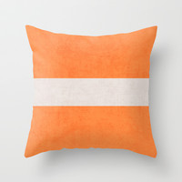 orange classic Throw Pillow by Her Art