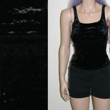 80s 90s crushed velvet crop top tank corset cropped shirt grunge boho festival hippie cyber goth hipster wicca s