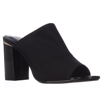 Calvin Klein Cice Peep Toe Mull Dress Sandals - Black
