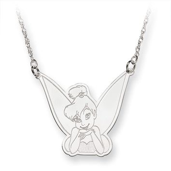 Disney's Tinker Bell Silhouette Necklace in Silver