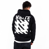 2016 New Off White 13 Exo GD Pyrex Religious Skull Black Color Fleece Hoodie Sweatshirts Cotton Hoodies