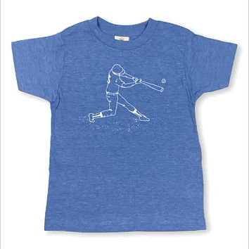Baseball Player Short Sleeve Tee