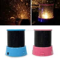Cute Romantic LED Star Sky Master Night Cosmos Projector Shiny Light Good Gift