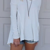 Forever & Always Ivory Long Sleeve Top