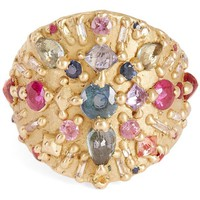 Gold Ourika Shield Multi-Stone Ring