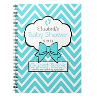 Chevron Baby Shower Guest Book-