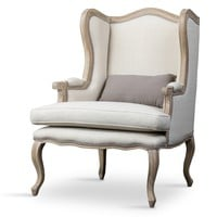 Auvergne Wood Traditional French Accent Chair | Overstock.com Shopping - The Best Deals on Living Room Chairs