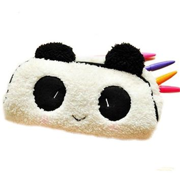 1PC Cut Panda Cotton Makeup Bag Students Pencil Case girls Pencil Bag Children Pen Pocket Toiletry Kits
