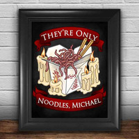 Lost Boys They're Only Noodles Michael Art Print, Wall Art, Home Decor, Matte Print, 8.5 in x 11 in