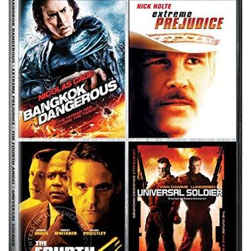 Jean-Claude Van Damme & Dolph Lundgren & Danny Pang & John Irvin -Four-Film Collection: (Bangkok Dangerous / Extreme Prejudice / The Fourth Angel / Universal Soldier)