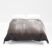 A fogilicious morning Duvet Cover by HappyMelvin