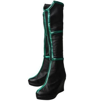 Thor 3 Ragnarok Trailer Hela Cosplay Shoes High Boots Halloween Carnival Cosplay Costu